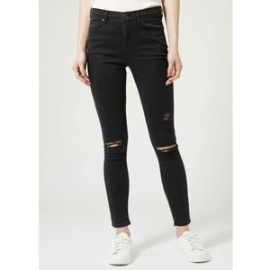 Topshop Moto Leigh Distressed Skinny Jeans Size 30
